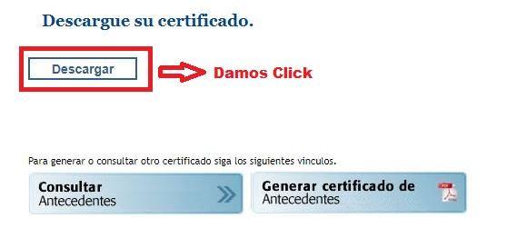 Paso 3.Descargamos el Certificado de antecedentes